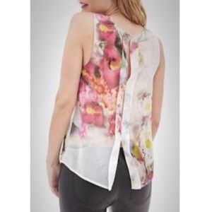 Tops - Floral Watercolor Sleeveless Top SZ S